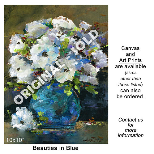 """Stretched Canvas Print - """"Beauties in Blue"""""""