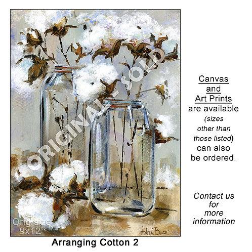 """Arranging Cotton 2 - print"""