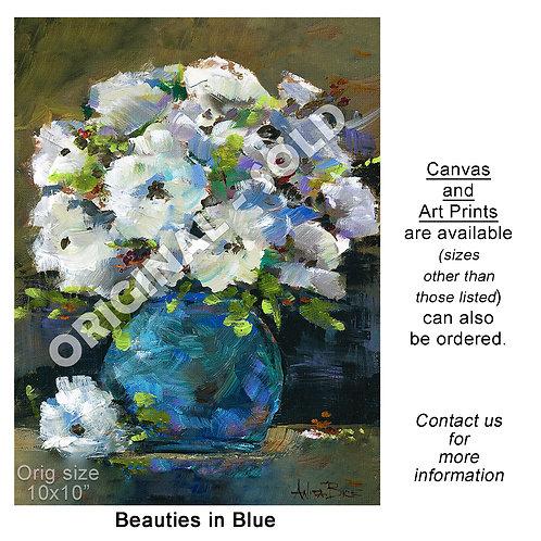 """""""Beauties in Blue - print"""""""