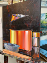Pots n Pans painting in progress