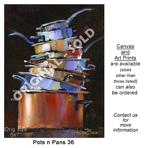 """Pots n Pans 36 - print"""