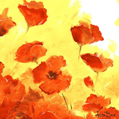 """""""Red Poppies_4x4minis"""""""