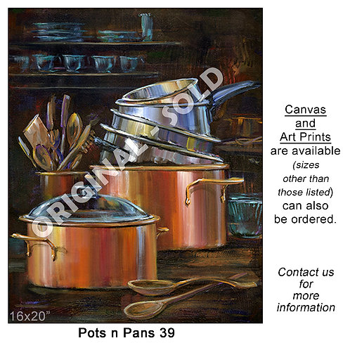 """Pots n Pans 39 - print"""