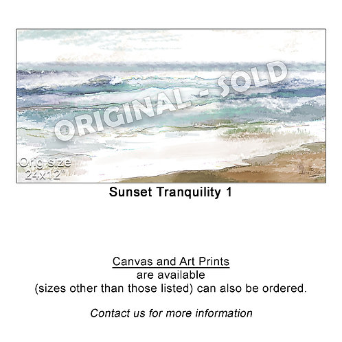 """Sunset Tranquility 1 - print"""