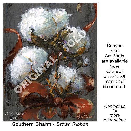"""""""Southern Charm - Brown Ribbon - print"""""""