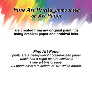 Fine Art Prints on Art Paper_unmounted
