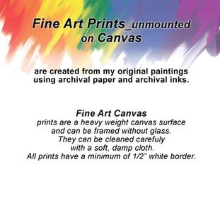 Fine Art Prints on Canvas_unmounted