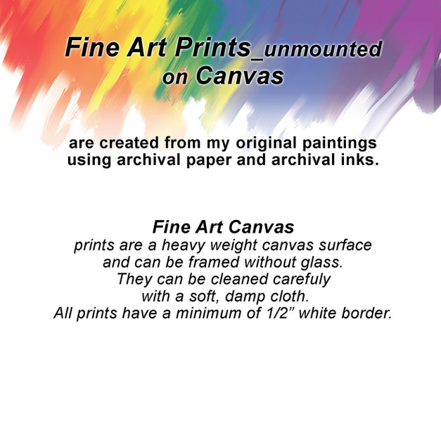 Fine Art Prints on Canvas_unmounted
