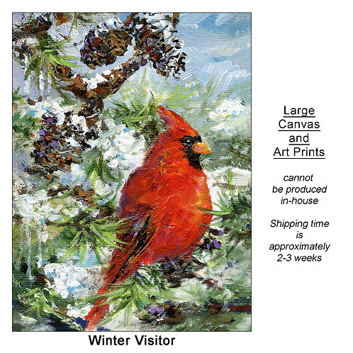 """Winter Visitor_large prints"""