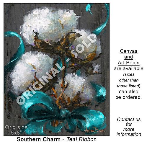 """""""Southern Charm - Teal Ribbon - print"""""""