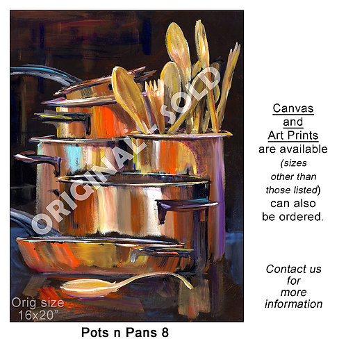 """Pots n Pans 8 - print"""