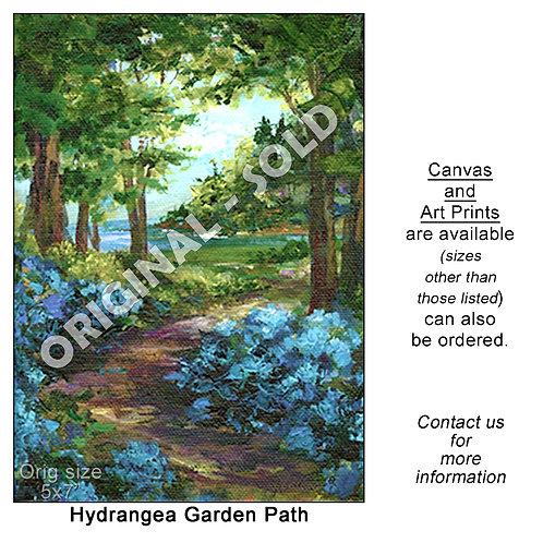 """""""Hydrangea Garden Path - print"""""""