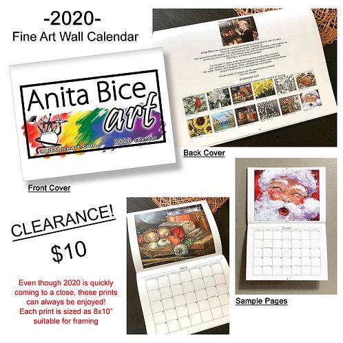 2020 Fine Art Wall Calendar