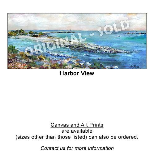 """Harbor View - print"""