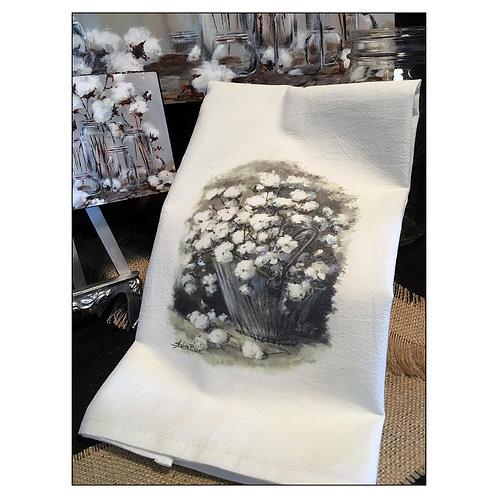 """""""Summer Snow"""" - Flour Sack Tea Towel"""