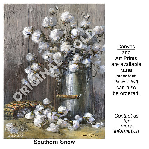 """Southern Snow - Vertical - print"""