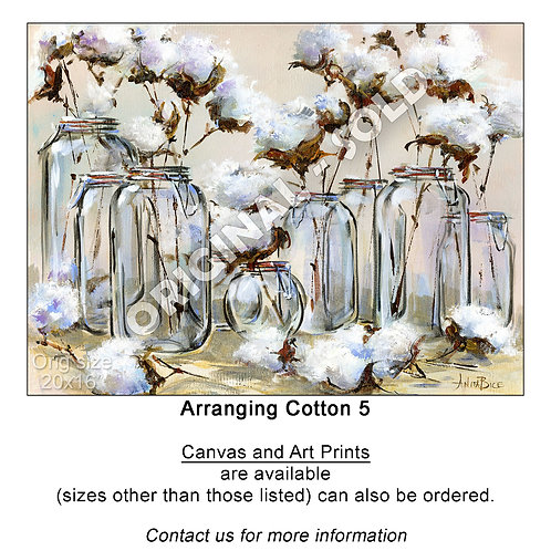 """Arranging Cotton 5 - print"""
