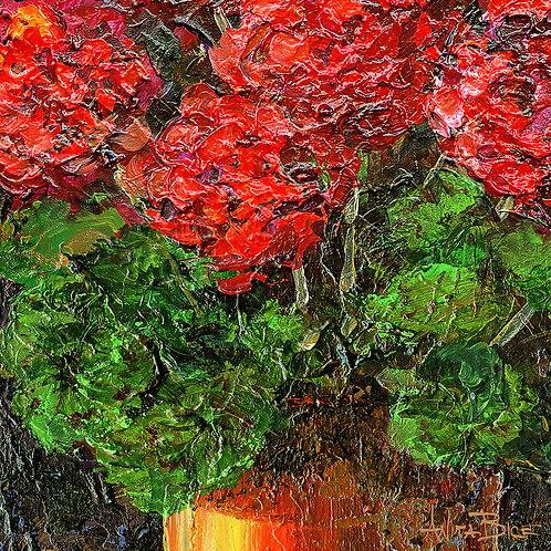 """Red Geraniums_4x4minis"""