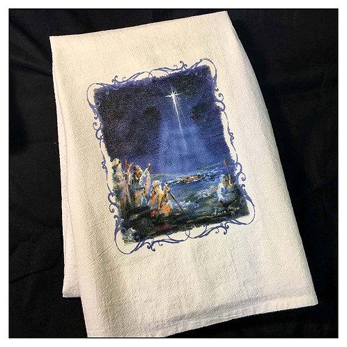 """Shepherds"" - Flour Sack Tea Towel"