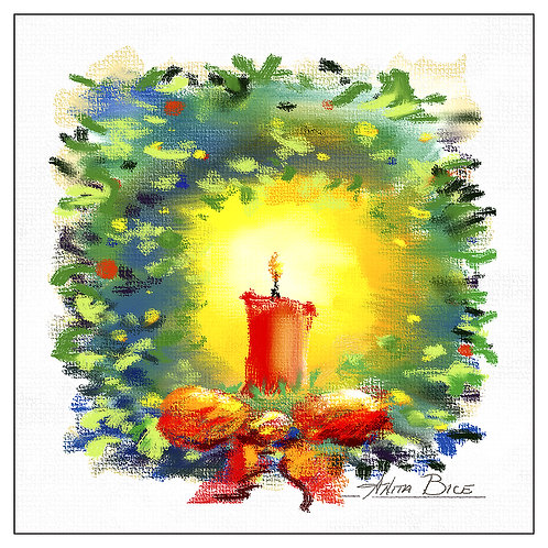"""Candle in Wreath"""