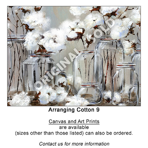 """Arranging Cotton 9 - print"""