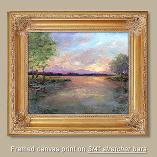 Stretched Canvas in frame