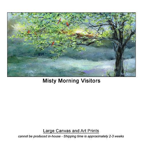 """Misty Morning Visitors_large prints"""