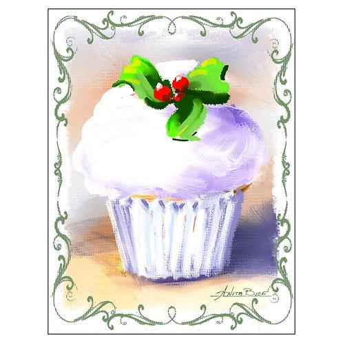 """Cupcake"" - Flour Sack Tea Towel"