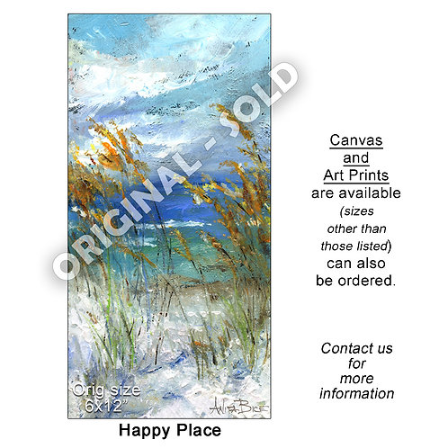 """Happy Place - print"""