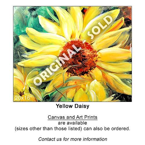 "Fine Art/Canvas Print - ""Yellow Daisy"""