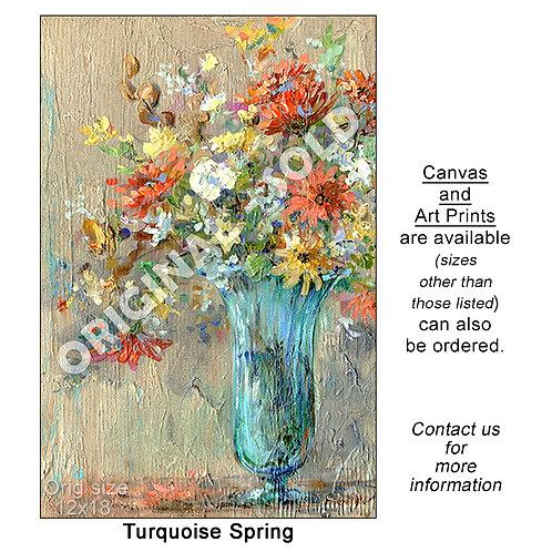 """Turquoise Spring - print"""