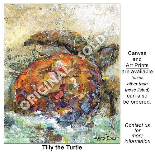 """Tilly the Turtle - print"""