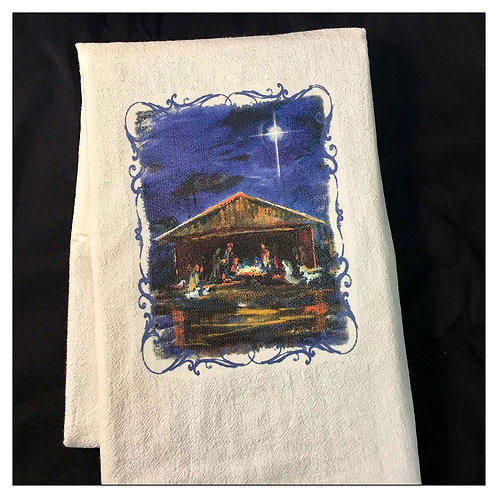 """Nativity"" - Flour Sack Tea Towel"