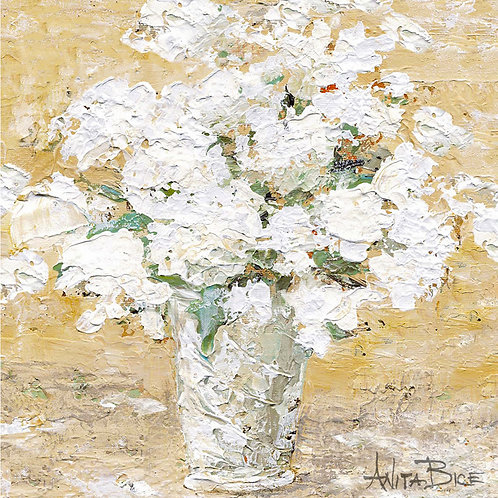 """White Flowers in Milk Pail_4x4minis"""
