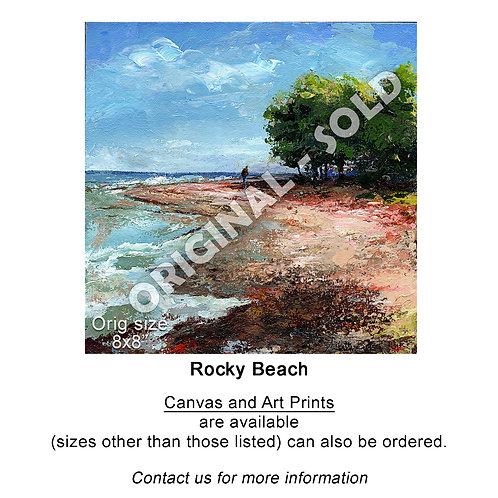 """Rocky Beach - print"""