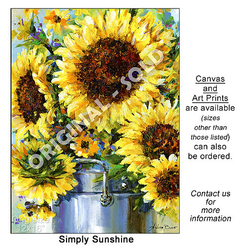 """Simply Sunshine - print"""