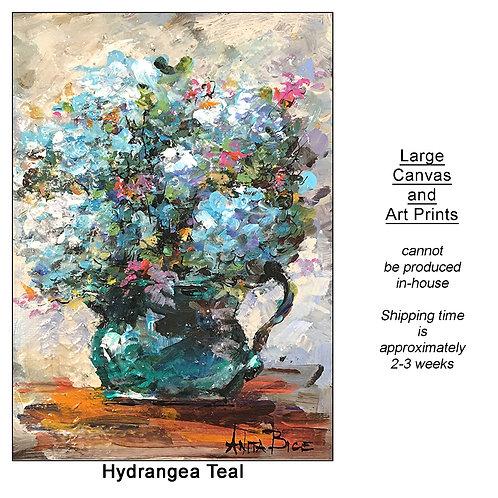 """Hydrangea Teal_large prints"""