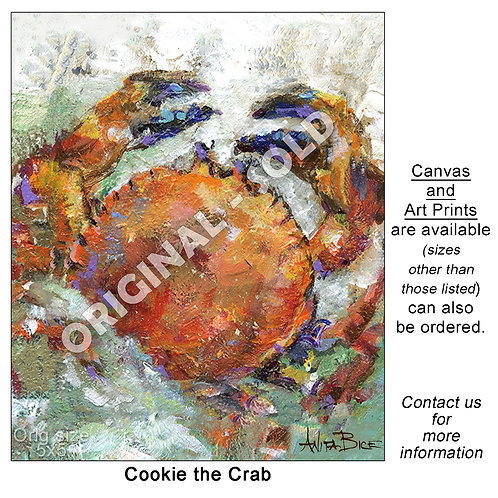 """""""Cookie the Crab - print"""""""