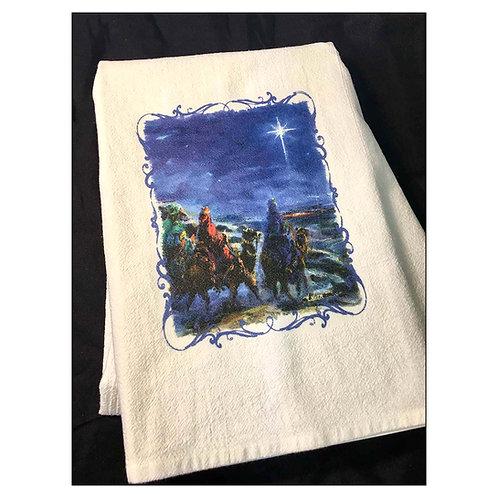 """""""Wisemen"""" - Flour Sack Tea Towel"""