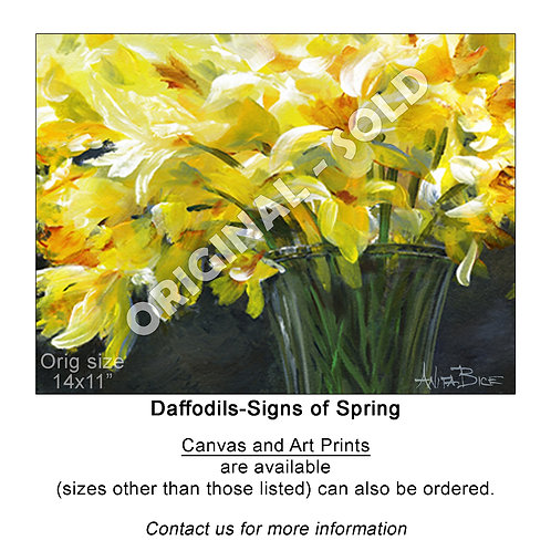 """""""Daffodils-Signs of Spring_Horiz - print"""""""