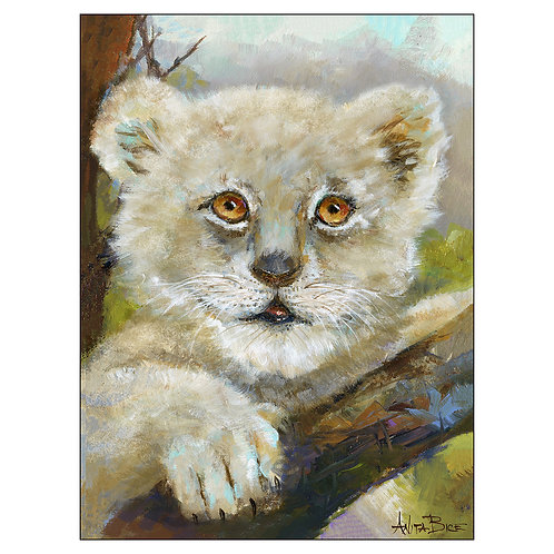 Pawla, the Lion_Stretched/Gallery-Wrapped Canvas