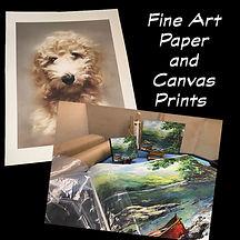 Fine Art Paper and Canvas Prints button.