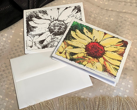 Yellow Daisy-For You_Notecards