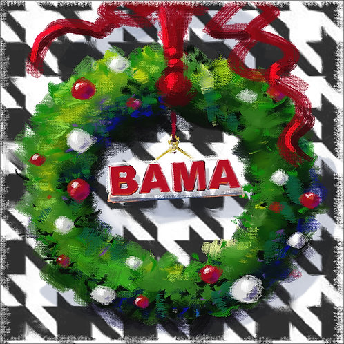 """Alabama Wreath_4x4minis"""