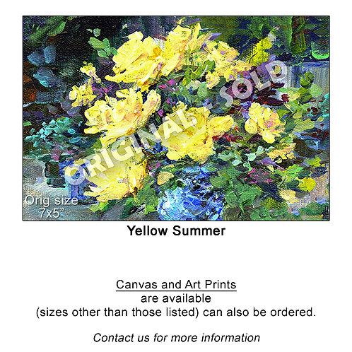 """Yellow Summer - print"""