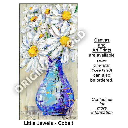 """Little Jewels - Cobalt - print"""