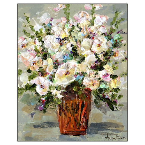 Floral Basket 1_Stretched/Gallery-Wrapped Canvas