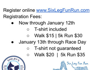 Registration Fees stay the same for 2018 event !!
