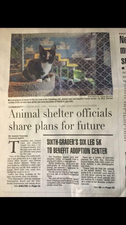 Copy of Newspaper article in TXK Gazette