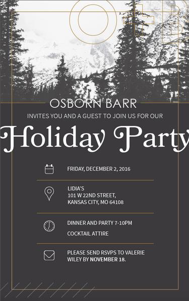 Osborn Barr Holiday Invite